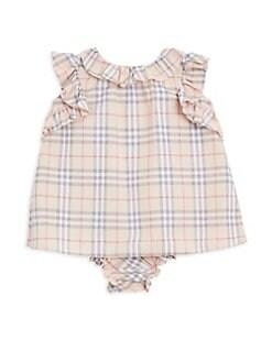 b34e1f96d QUICK VIEW. Burberry. Baby Girl's Carla Two-Piece Ruffle Tartan Dress ...