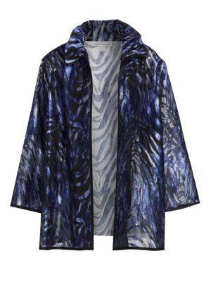 Caroline Rose  Wave Davore Ruched Collar Jacket