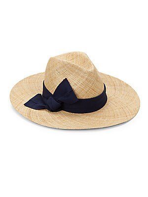 "Image of From the Raffaello Bettini Collection. Timeless straw hat elevated with elaborate bow detail. Bow detail Straw Spot clean Made in Italy SIZE Brim width, about 4"". Soft Accessorie - Millinery. Bettini. Color: Natural."