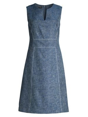 Lafayette 148 Dresses Brett Sleeveless A-Line Dress