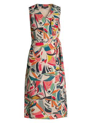 Lafayette 148 Dresses Pammie Sleeveless Wrap Dress