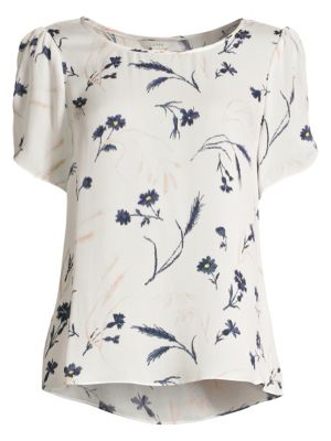 Joie Tops Wira Silk Floral Print Top