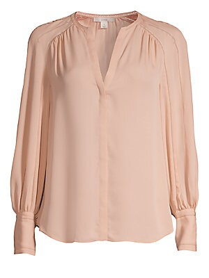 076d881fee207 Joie - Aban Embroidered Collarless Blouse - saks.com