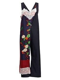 e0cc79ce7f Junya Watanabe. Wrapped Floral Lace Jumpsuit