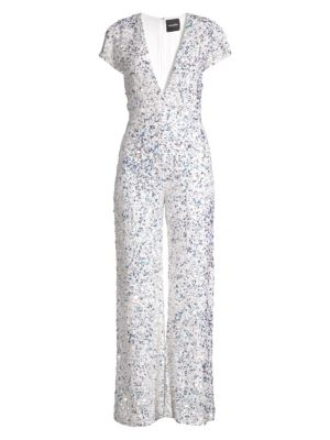 Retrof Te Elise Sequin Cap Sleeve Jumpsuit