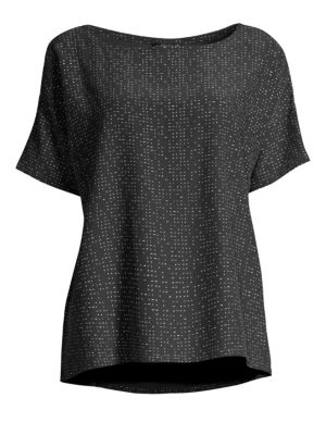 Eileen Fisher Tops Morse Code Speckled Tee