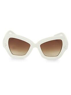 c8cb32093c6 CELINE. CL40067I 54MM Butterfly Sunglasses