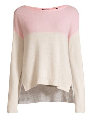 Atm Anthony Thomas Melillo Cashmere Colorblocked Sweater