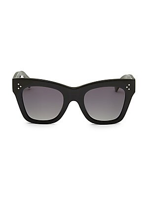 50 Mm Cat Eye Plastic Sunglasses by Celine