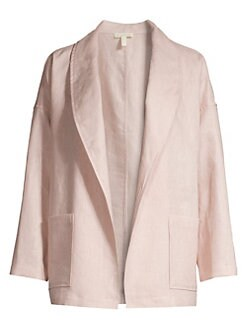 842485169036ff QUICK VIEW. Eileen Fisher. Linen Shawl Collar Jacket