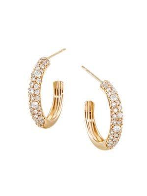 Lana Jewelry Flawless 14k Yellow Gold Diamond Thin Curve Huggies 0 5 Quot