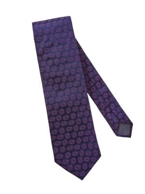 25dd3ee36846 Eton - Pine Paisley Silk Tie - saks.com