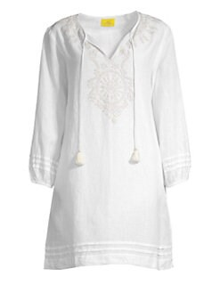 fcd3eed64f Roller Rabbit. Sora Embroidered Linen Coverup Dress