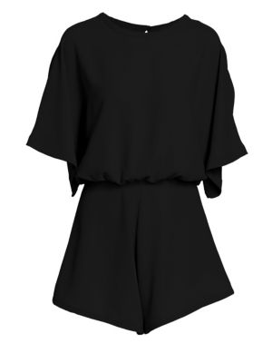 Bamboo Draped Blouson Romper by Iro