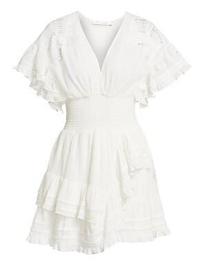 843befe8e19 Zimmermann - Wayfarer Linen Lace Dress - saks.com