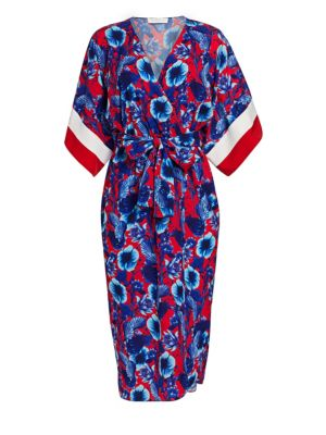 e4e67ba0fc0e Yigal Azrouël - Colorblock Wrap Dress - saks.com
