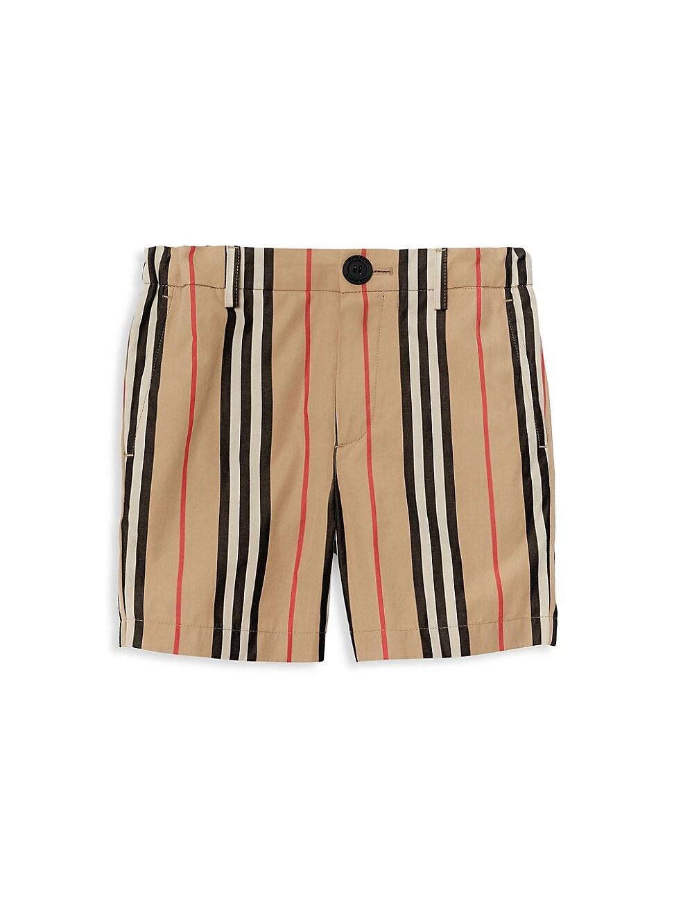 Burberry Kids' Little Boy's & Boy's Nicki Icon Stripe Woven Shorts In Beige