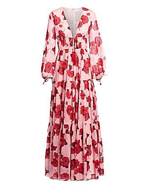 a8def3c5a24a Borgo de Nor - Anna Silk Floral Gown - saks.com