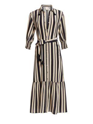 Figue Indiana Silk Stripe Dress