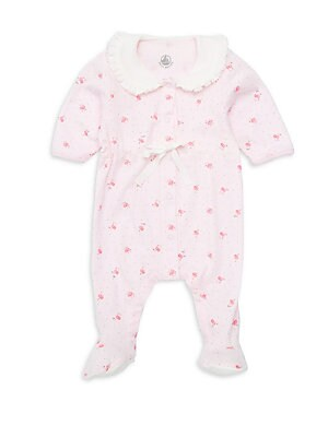 e3f4493699a Burberry. Baby Girl s Logo Carrot Cotton Bodysuit.  120.00. Petit Bateau -  Baby Girl s Balila Floral Footie