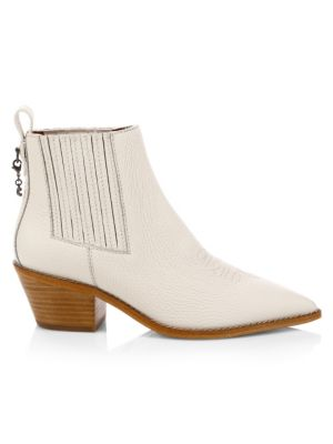 Melody Leather Western Booties by Coach