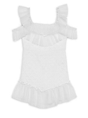 932f1962012 Bardot Junior - Girl s Sophie Knit Cold-Shoulder Ruffle Dress