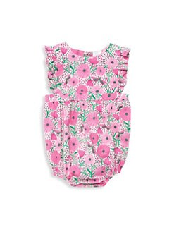 088650f444d Egg Baby. Baby Girl s Gabriella Printed Cotton Romper
