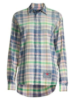 Polo Ralph Lauren Ellen Cotton Madras Plaid Shirt