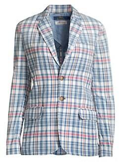 37e3d64a70a Polo Ralph Lauren. Madras Plaid Blazer