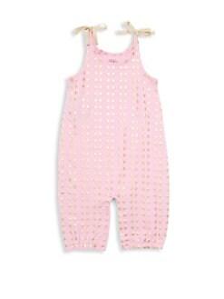 e9054d31ece3 Egg Baby. Baby Girl s Kiki Metallic-Accent Cotton Romper