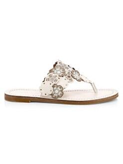 e5eaaf94e COACH. Lottie Flower Thong Sandals