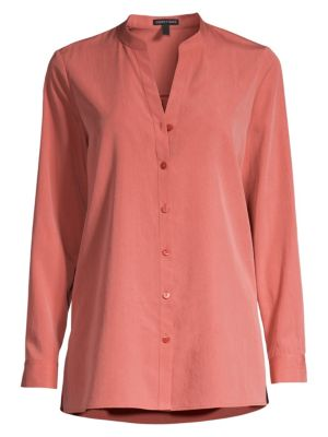 Eileen Fisher Tops Collared Button-Down Blouse