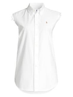 ec06b1a5d5b20 Sleeveless Button-Down Shirt WHITE. QUICK VIEW. Product image. QUICK VIEW. Polo  Ralph Lauren