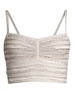 e4a64e20700c8 Herve Leger. Lurex Crop Top