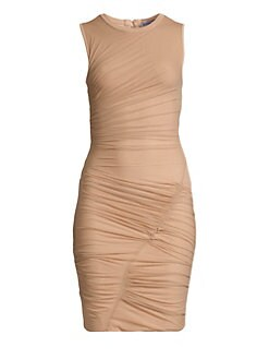 7ee71931f11f Product image. QUICK VIEW. Herve Leger. Sleeveless Ruched Mini Dress.   950.00