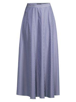 Lafayette 148 Skirts Ambria Striped Maxi Skirt