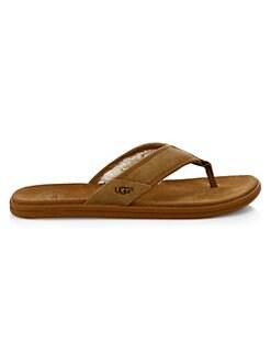 01e1f32cb Ugg. Seaside Suede Flip-Flops
