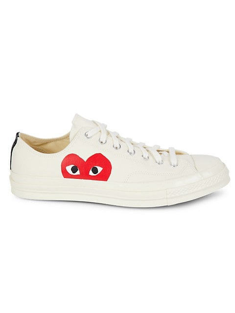 latitud procedimiento práctica  Comme des Garcons Play Comme des Garcons Play x Converse Play One Heart  Low-Top Sneakers | SaksFifthAvenue