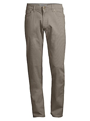 """Image of Casual-smart pants elevated by modern tailoring. Five-pocket style Zip fly Cotton/elastane Machine wash Made in Italy SIZE & FIT Modern fit Rise, about 10"""" Inseam, about 34"""" Leg opening, about 15"""". Men Luxury Coll - Designer Clothing > Saks Fifth Avenue."""