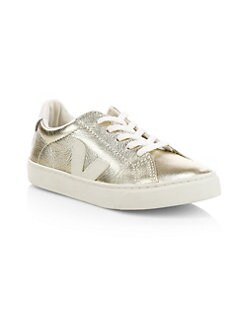 5cc5af9fcb24a QUICK VIEW. Veja. Kid's Esplar Lace-Up Metallic Sneakers