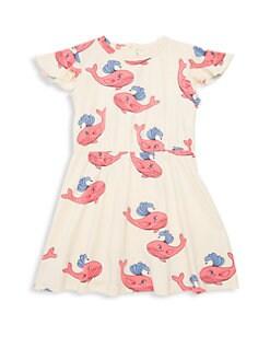 79857efcd0c Mini Rodini. Little Girl s   Girl s Whale Stretch-Cotton Dress