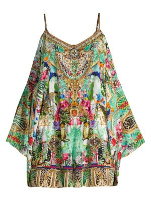 Camilla Suits Crystal Detail Printed Playsuit