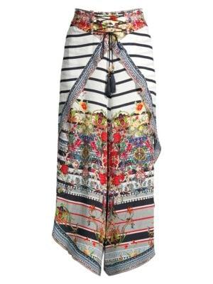 Camilla Pants La Fleur Libertine Tie Wrap Silk Harem Pants