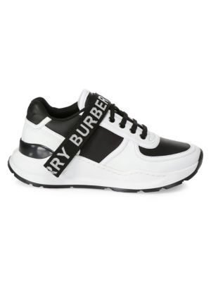 Ronnie Logo Strap Leather Sneakers
