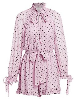 fdc5e155dd Product image. QUICK VIEW. Zimmermann. Polka Dot Silk Playsuit