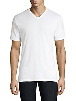 9bad93df Product image. QUICK VIEW. Sunspel. Cotton V-Neck T-Shirt