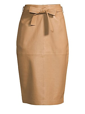 Alouetta Leather Skirt by Equipment