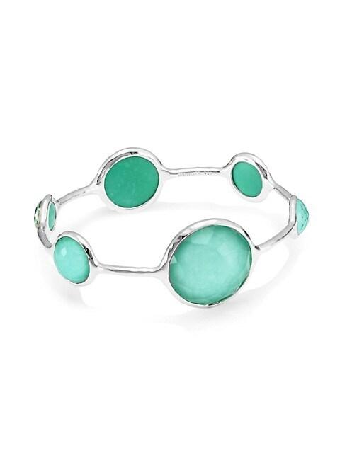 Rock Candy Sterling Silver & Doublet Bangle Bracelet
