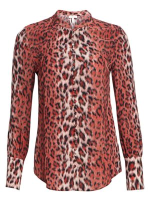 Tariana Leopard Button Down Blouse by Joie