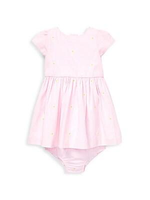 738e0ce48 Ralph Lauren - Baby Girl's Schiffli Cotton Dress & Bloomers Set